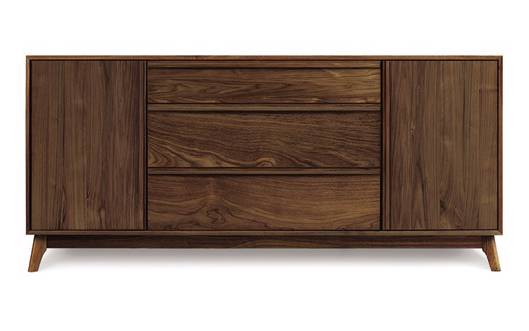 Picture of CATALINA 1 DOOR ON EITHER SIDE OF 3 DRAWERS BUFFET IN WALNUT